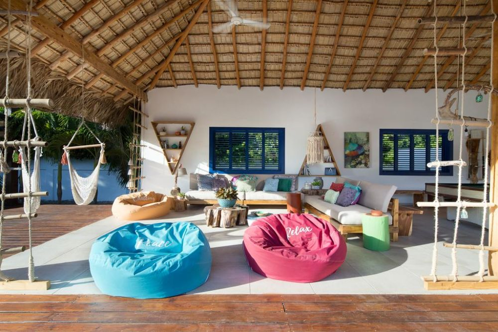 Lounge, Punta Rucia Lodge, Dominikanische Republik Reise