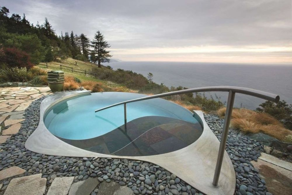 Jacuzzi, Post Ranch Inn, Hotel Big Sur, USA Rundreise