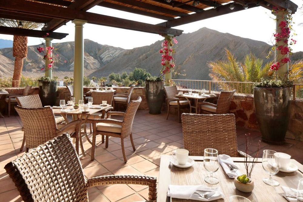 Terrasse ,The Inn at Death Valley, Hotel, USA Rundreise