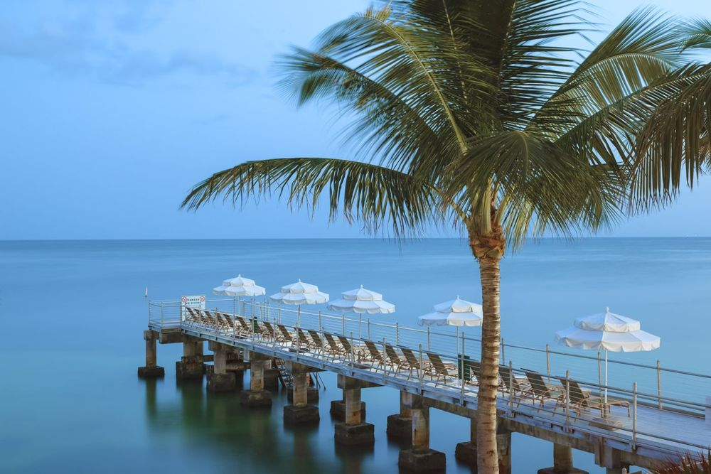 Pier, Southernmost Beach Resort, Key West, Florida, USA Reisen