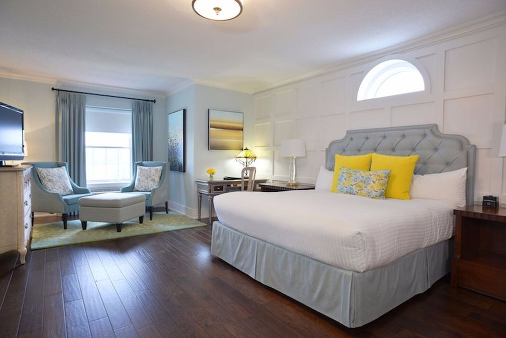 Zimmer mit Doppelbett, Queens Landing, Hotel, Niagara-on-the-lake, Kanada Rundreise