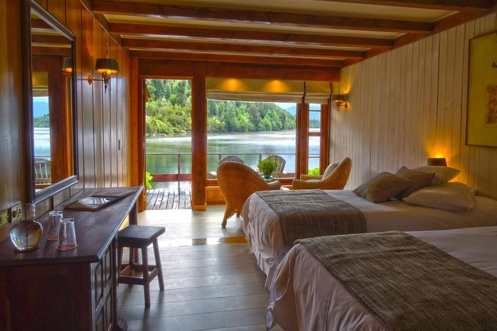 Superior Schlafzimmer, Puyuhuapi Lodge & Spa, Aysen, Chile Rundreise