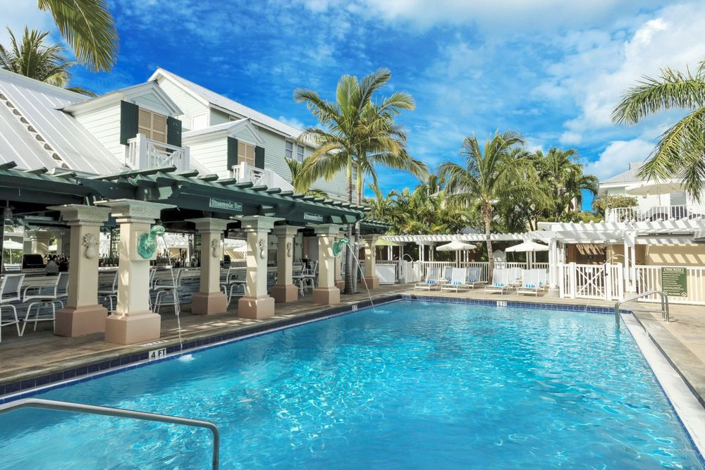 Pool und Bar, Southernmost Beach Resort, Key West, Florida, USA Reisen