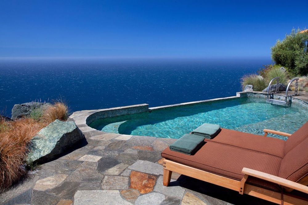 Infinity Pool, Post Ranch Inn, Hotel Big Sur, USA Rundreise