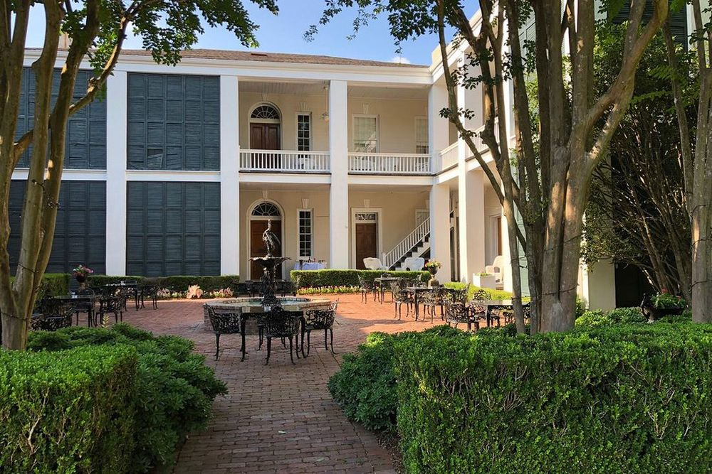 Innenhof, Monmouth Historic Inn, Natchez, Mississippi, USA Rundreise